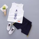 เสื้อ+กางเกง สีขาว แพ็ค 4ชุด ไซส์ S-M-L-XL (เหมาะสำหรับ 6ด.-4ปี)