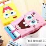 เคส iphone 4 เคสไอโฟน4s SpongeBob เคสซิลิโคนการ์ตูนฟองน้ำ น่ารักๆ กวนๆ ซิลิโคน 3D