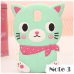 case note 3 เคส Samsung Galaxy note 3 เคสน้องแมวตัวอ้วนๆ กลม ซิลิโคน 3D นิ่มๆ น่ารักๆ เคสมือถือราคาถูกขายปลีกขายส่ง