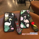 เคส iPhone 7 Plus (5.5 นิ้ว) พลาสติกลายนกฟลามิงโกแสนสวย พร้อมที่คล้องเข้าชุด คุ้มมากๆ ราคาถูก