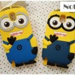 case note 3 เคส Samsung Galaxy note 3 มินเนี่ยน ซิลิโคน 3D despicable me เคสมือถือราคาถูกขายปลีกขายส่ง