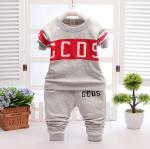 เสื้อ+กางเกง สีเทา แพ็ค 4ชุด ไซส์ 100-110-120-130