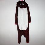 ชุดแฟนซีสัตว์หมาป่า น้ำตาล +รองเท้าการ์ตูน