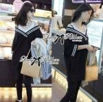 [พร้อมส่ง] เสื้อผ้าแฟชั่นเกาหลี เดรสจัมเปอร์เปิดไหล่แนวสปอร์ต ตัวนี้ดูเปรี้ยวเก๋มากๆค่ะ ชุดเดรสใส่ได้หลายแบบ จะใส่เป็นเดรสเดี่ยวๆ