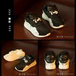 รองเท้าเด็กแฟชั่น สีดำ แพ็ค 5 คู่ ไซส์ 32-33-34-35-36