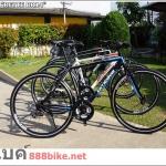 จักรยานทัวร์ริ่ง Hybrid BMBIKE รุ่น BR14 เฟรมอลู 24 สปีด ใหม่ล่าสุด 2016 มีเฉพาะดำเขียว