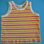 ZZ069 Kid Zone เสื้อกล้ามเด็ก 100% Cotton ลายริ้ว โทนส้ม Size 4T