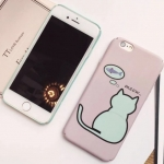Case iPhone 6s Plus,6 Plus (5.5 นิ้ว) พลาสติกสีพาสเทลลายน่ารักแมวน้อย ยีราฟ ราคาถูก