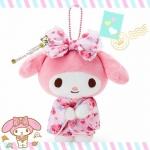 ตุ๊กตาพวงกุญแจมายเมโลดี้ชุดกิโมโน My Melody sweety flora Japanese kimono plush keychain