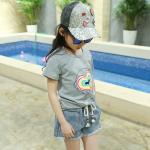 เสื้อ สีเทา แพ็ค 5 ชุด ไซส์ 120-130-140-150-160 (เลือกไซส์ได้)