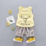 เสื้อ+กางเกง สีเหลือง แพ็ค 4ชุด ไซส์ 6-8-10-12 (เหมาะสำหรับ 6ด.-4ปี)