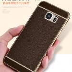 เคส Samsung S6 Edge Plus เคสหนังเทียมขอบทอง นิ่ม เรียบหรู สวยมาก ราคาถูก