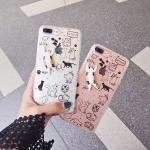 เคส iPhone 7 Plus (5.5 นิ้ว) พลาสติกกากเพชรแมวน้อยแสนน่ารัก ราคาถูก