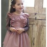 pink ideal ชุดกระโปรง สีชมพู แพ็ค 5 ชุด ไซส์ 110-120-130-140-150