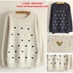 [Pre-order] MM2348 เสื้อกันหนาวไหมพรม สเวเตอร์แบบสวม ลายมิกกี้เม้าส์ Mickey Mouse