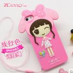 Case iPhone SE / 5s / 5 ซิลิโคน TPU เด็กหญิงน่ารักๆ ราคาถูก