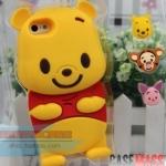 case iphone 5 เคสไอโฟน5 เคสซิลิโคน 3D น้องหมีพูน่ารักๆ มาพร้อมปุ่มกด 3 แบบด้วย cartoon 3D shell cute Winnie the Pooh silicone