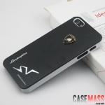 case iphone 5 เคสไอโฟน5 เคสโลหะลายโลโก้ lamborghini สวยๆ เท่ๆ