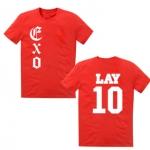 เสื้อ EXO LAY10 : สีแดง