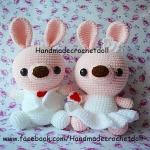 ตุ๊กตาแต่งงาน กระต่ายบ่าวสาว แบบ2