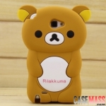 เคส Note 2 Case Samsung Galaxy Note 2 II N7100 เคส Rilakkuma 3D ซิลิโคน 3D Cartoon Silicone Rilakkuma 3D