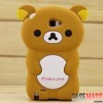 เคส Note 2 Case Samsung Galaxy Note 2 II N7100 เคส Rilakkuma 3D ซิลิโคน 3D Cartoon Silicone Rilakkuma 3D