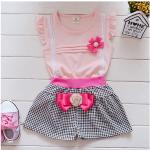 เสื้อ+กางเกง สีชมพู แพ็ค 4ชุด ไซส์ S-M-L-XL