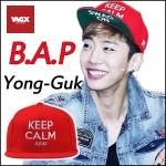 หมวก B.A.P KEEP CLAM (สีแดง)