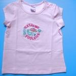 EXTG007 Extreme Girl เสื้อยืดเด็กหญิงเนื้อนิ่ม สีชมพู ปักลาย EXTREME POOLSIDE Size 12M /3Y