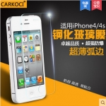 สำหรับ IPHONE4 ฟิล์มกระจกนิรภัยป้องกันหน้าจอ 9H Tempered Glass 2.5D (ขอบโค้งมน) HD Anti-fingerprint