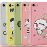 Case iPhone 7 (4.7 นิ้ว) พลาสติกลายการ์ตูน แบบประกบหน้า - หลัง 360 องศา น่ารักมากๆ ราคาถูก