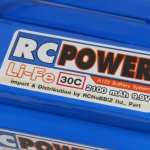 RC-POWER Li-Fe 2100 mAh 3S1P 9.9v 30c Flat type