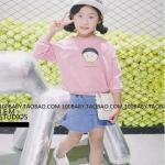 เสื้อ สีชมพู แพ็ค 5ชุด ไซส์ 7-9-11-13-15