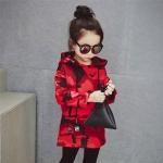 เสื้อกันหนาวลายพรางสีแดง [size: 2Y-3Y-4Y-5Y]
