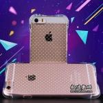 Case iPhone SE / 5s / 5 ซิลิโคน TPU ขอบกันกระแทกสีโปร่งใสพร้อมเม็ดดอท DOT กันรอย ราคาถูก