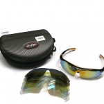 แว่นตานักปั่น S-FIGHT เลนส์ Polarized ,UV400 มี Clip-on ,5 เลนส์และผ้าชามัวร์ ,S064 (คลิปออน)