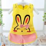 ชุดเซตลายกระต่ายสีเหลือง [size 6m-1y-2y]