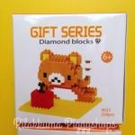 ตัวต่อเลโก้จิ๋ว โมเดลหมีน้อยรีแลคคุมะนอนตะแคง rilakkuma nanoblock 258 ชิ้น