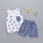 เสื้อ+กางเกง สีฟ้า แพ็ค 4ชุด ไซส์ 6-8-10-12 (เหมาะสำหรับ 6ด.-4ปี)