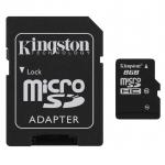 เม็มโมรี่การ์ด Kingston Memory Micro SD Card Class 4 - 8GB with Adapter