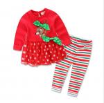 เสื้อ+กางเกง คริสต์มาส 16292 สีแดง แพ็ค 5 ชุด ไซส์ 80-90-100-110-120 (เลือกไซส์ได้)