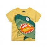 เสื้อลายฉลามสีเหลือง [size 2y-3y-4y-5y-6y-7y]