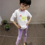 เสื้อ+กางเกง สีขาว แพ็ค 5ชุด ไซส์ 7-9-11-13-15