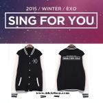 เสื้อกันหนาว เสื้อเบสบอล EXO Sing For You
