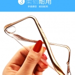 Case iPhone 4 / 4s ซิลิโคน TPU โปร่งใสขอบเงางาม ราคาถูก