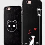 เคส iPhone 6 / 6s (4.7 นิ้ว) พลาสติก TPU มีความยืดหยุ่นในตัว สีดำสวยงามสกรีนลายกราฟฟิคต่างๆ ราคาถูก