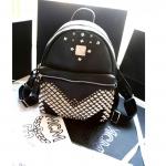 กระเป๋าแฟชั่น MCM 2015 (สีดำปักหมุด) ระบุไซส์