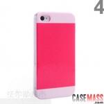 case iphone 4 4s 5 เคสไอโฟน4 4s 5 ishow เคสสีทูโทน สีกากเพชรสวยๆ บางๆ ด้านข้างใสมีโลโก้ ishow ด้านข้าง ishow the two-color mix and match genuine Pearlescent