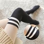 [พร้อมส่ง] L7221 เลกกิ้งกันหนาว เนื้อถุงเท้า ลายเส้นคาด เหมือนใส่ถุงเท้าสไตล์ Sport Girls