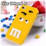 case iphone 5 เคสไอโฟน5 M&M เคสซิลิโคน 3D การ์ตูนเอ็มแอนด์เอ็ม น่ารักๆ